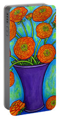 Radiant Ranunculus Portable Battery Charger