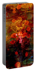 Radiant Red Portable Battery Charger by Nancy Kane Chapman