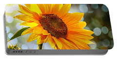 Radiant Yellow Sunflower Portable Battery Charger