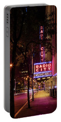 Radio City Music Hall And Tree Portable Battery Charger