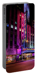 Portable Battery Charger featuring the photograph Radio City Music Hall by M G Whittingham