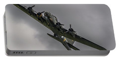 Raf Scampton 2017 - B-17 Flying Fortress Sally B Turning Portable Battery Charger