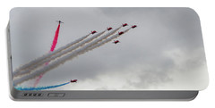 Raf Scampton 2017 - Red Arrows Tornado Formation Portable Battery Charger