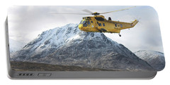 Portable Battery Charger featuring the digital art Raf Sea King - Sar by Pat Speirs