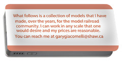 Rail Models By Gary Giacomelli Portable Battery Charger