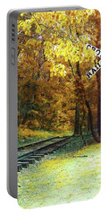 Portable Battery Charger featuring the photograph Rail Road Crossing To Neverland by Patricia Awapara
