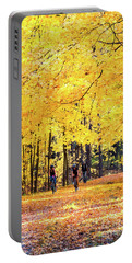 Autumn Glory On The Rail Trail Portable Battery Charger