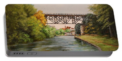 Railroad Bridge Over Erie Canal Portable Battery Charger