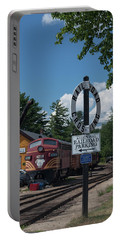 Railroad Crossing Portable Battery Charger by Suzanne Gaff