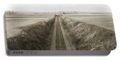 Railroad Cut, West Of Gettysburg Portable Battery Charger