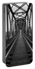 Portable Battery Charger featuring the photograph Railroad by Ester Rogers