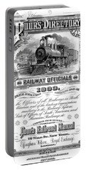 Railroad Official Directory  1893 Portable Battery Charger by Daniel Hagerman