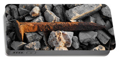 Railroad Spike Portable Battery Charger