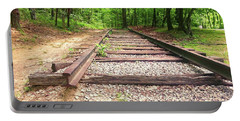 Railroad Tracks To Neverland Portable Battery Charger