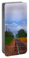 Railway Into The Clouds Vertical Portable Battery Charger