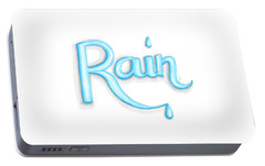 Portable Battery Charger featuring the drawing Rain by Cindy Garber Iverson