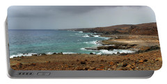 Rain Clouds Brewing Off The Coast Of Island Of Aruba Portable Battery Charger