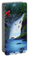 Rain Forest Macaws Portable Battery Charger by Stanton Allaben