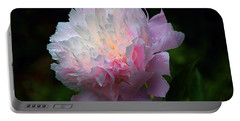 Rain-kissed Peony Portable Battery Charger by Byron Varvarigos