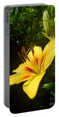 Rain Kissed Tiger Lily Portable Battery Charger
