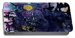 Rain On A Sunny Day - Colorful Dark Contemporary Abstract Portable Battery Charger