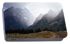 Portable Battery Charger featuring the photograph Rain On Grand Teton 2 by Marty Koch