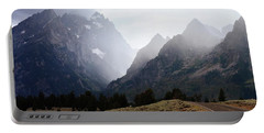 Rain On Grand Teton 2 Portable Battery Charger