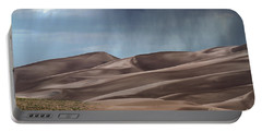 Rain On The Great Sand Dunes Portable Battery Charger by Catherine Sherman
