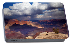 Rain Over The Grand Canyon Portable Battery Charger by Mike  Dawson