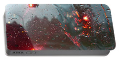 Rain Portable Battery Charger by Rhonda McDougall