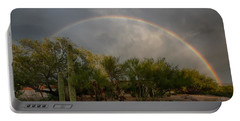 Portable Battery Charger featuring the photograph Rain Then Rainbows by Dan McManus