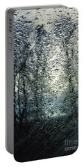 Rain - Water Droplets On The Window Portable Battery Charger