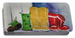 Rainboots Portable Battery Charger by Terri Einer