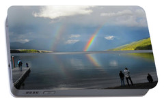 Portable Battery Charger featuring the photograph Rainbow 1 by Marty Koch