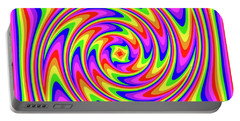 Portable Battery Charger featuring the digital art Rainbow #2 by Barbara Tristan