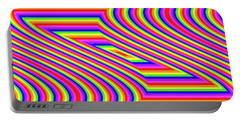 Portable Battery Charger featuring the digital art Rainbow #5 by Barbara Tristan