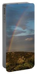 Rainbow Above Lagunas Portable Battery Charger