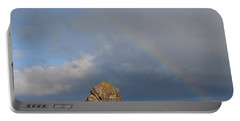 Rainbow Above Sango Bay Sea Stack Portable Battery Charger