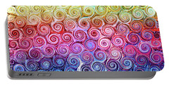 Rainbow Abstract Swirls Portable Battery Charger