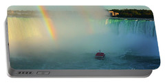 Rainbow At Horseshoe Falls Portable Battery Charger
