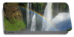 Rainbow At Iguazu Falls Portable Battery Charger