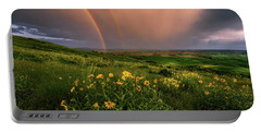 Rainbow At Steptoe Butte Portable Battery Charger
