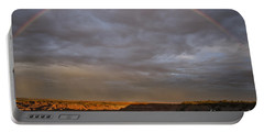 Portable Battery Charger featuring the photograph Rainbow At Sunset by Melany Sarafis
