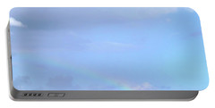 Portable Battery Charger featuring the digital art Rainbow At The Beach 1 by Francesca Mackenney