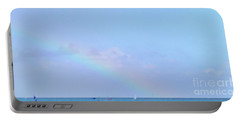 Portable Battery Charger featuring the digital art Rainbow At The Beach 2 by Francesca Mackenney