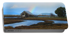 Rainbow, Bay, And Barn Portable Battery Charger