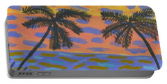 Rainbow Beach Portable Battery Charger by Artists With Autism Inc
