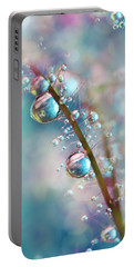 Rainbow Blue Smokey Drops Portable Battery Charger