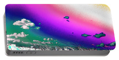 Rainbow Borealis Portable Battery Charger
