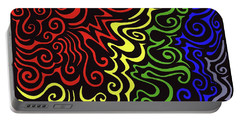 Rainbow Burst Tribal Portable Battery Charger